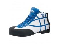 """Chaussures Reno modèle """"Asbury"""" - coloris : blanc & bleu"""