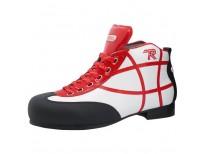 """Chaussures Reno modèle """"Asbury"""" - coloris : blanc & rouge"""