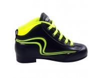 "Chaussures Reno ""Initiation"" - coloris : noir & jaune fluo"