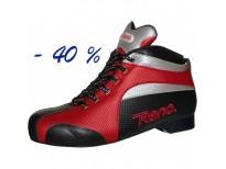 """Chaussures Reno """"FALCON"""" - coloris : rouge & noir & argent"""