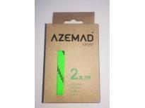 Paire de lacets Azemad vert fluo