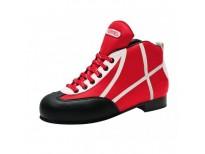 Chaussures Initiation - coloris rouge & liseré blanc
